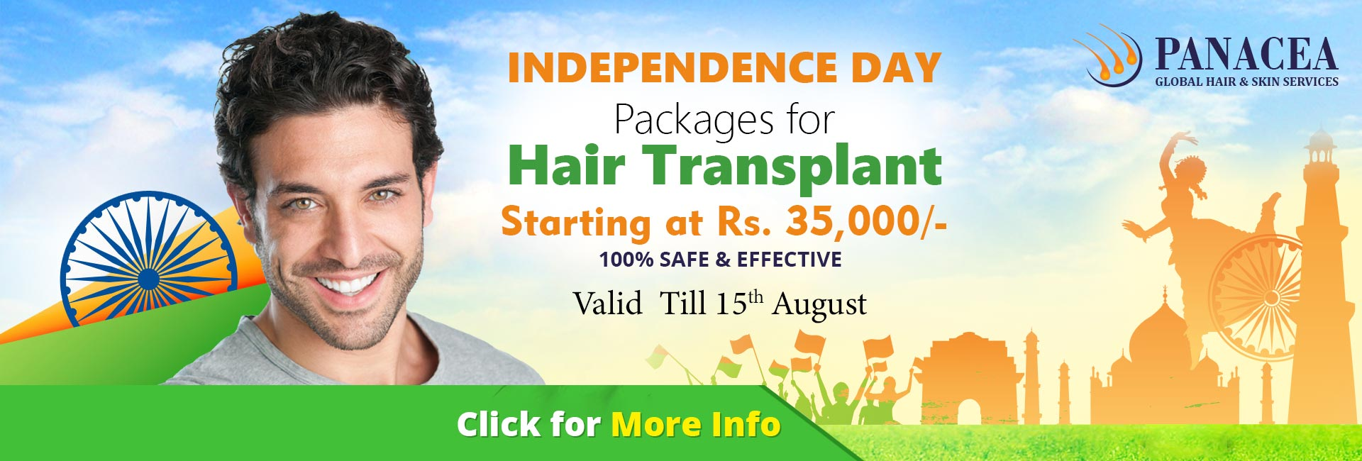 Hair Transplant Independemce Day offer - Panacea